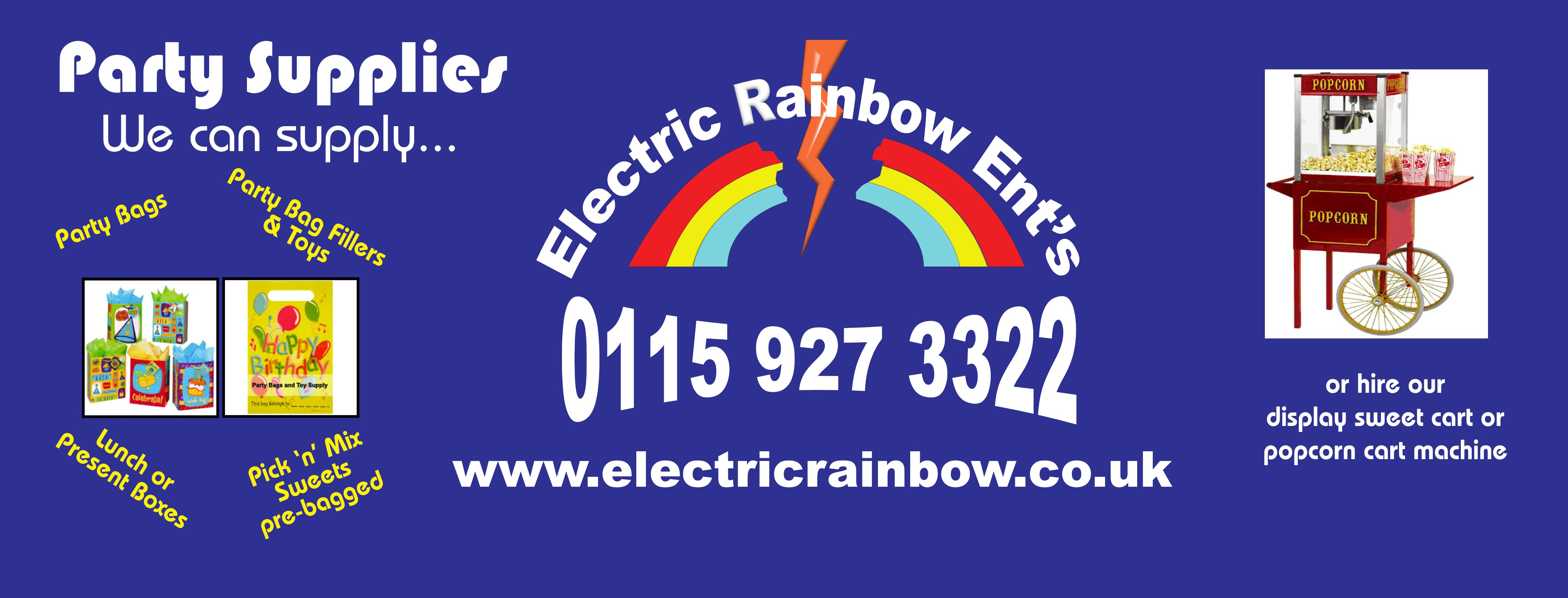 Rainbow Party Bags is a trading name as apart of Electric Rainbow Entertainments